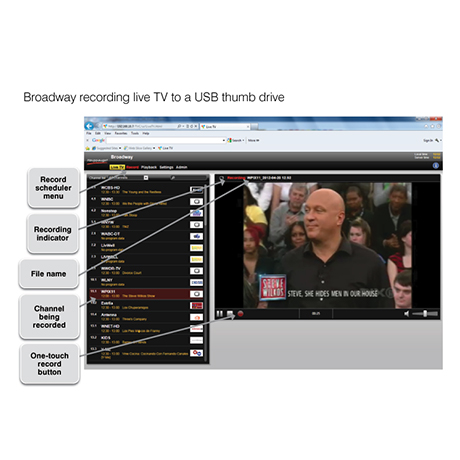 Broadway recording screen