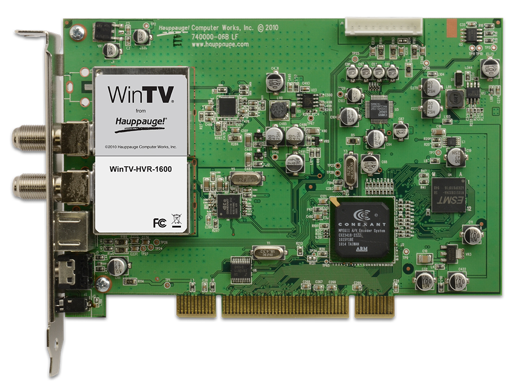 Hauppauge Wintv Hvr 1600 Tv Tuner Board Improved Infrared Receiver For Pc With S