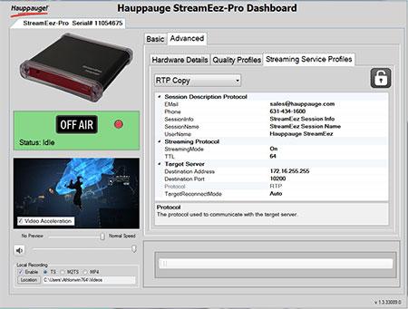 StreamEez back panel