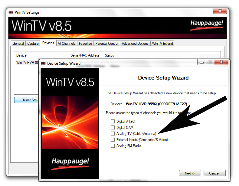 Hauppauge | How to rescan for TV channels in WinTV